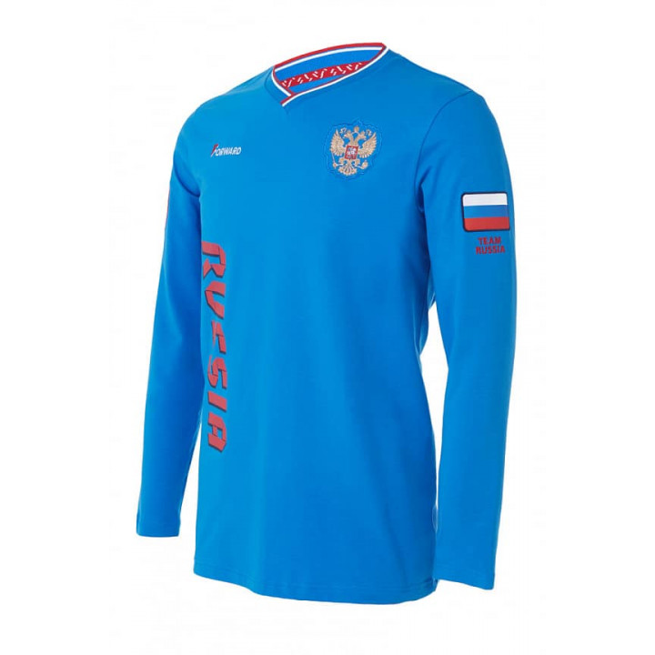 Футболка FORWARD дл. рукав синяя