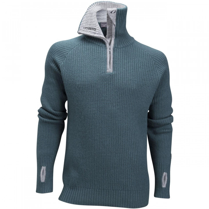 Свитер ULVANG Rav Sweater w/zip (Морской/серый) Men