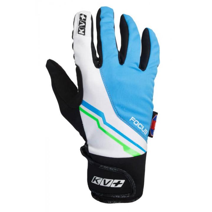 Перчатки KV+ FOCUS cross country gloves Black/White/Blue