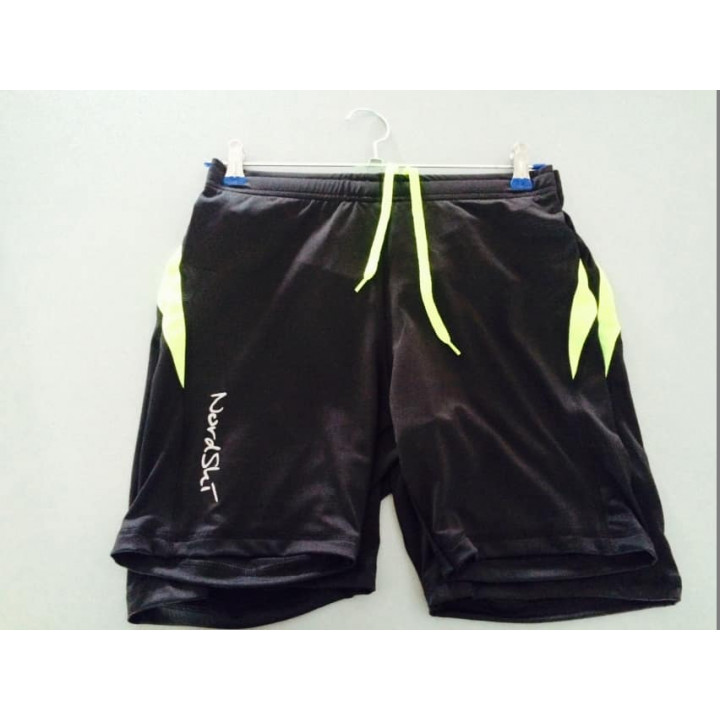 Шорты обтягивающие NORDSKI  Premium Run Black/Neon