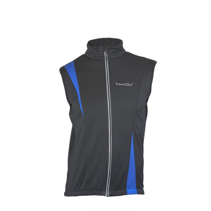Жилет NordSki Active Black/Blue(Soft-Shell)