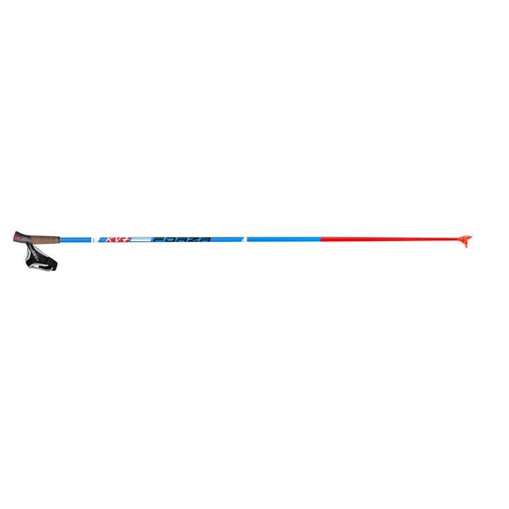 Палки KV+ FORZA Blue Clip xc-pole 100% Carbon