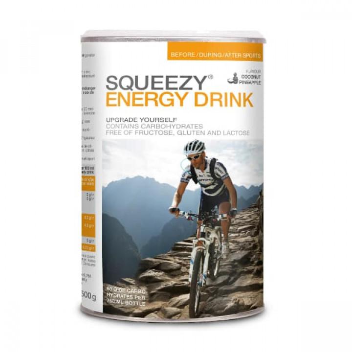 Изотоник с электролитами SQUEEZY Energy Drink (кокос-ананас), 500гр.