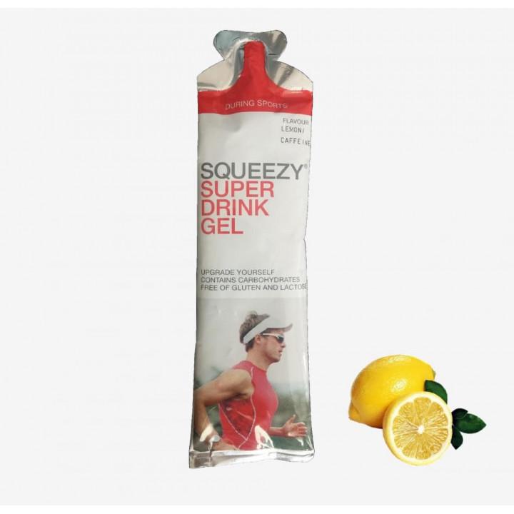 Гель питьевой с электролитами и кофеином SQUEEZY Super Drink Gel (лимон), 60 мл