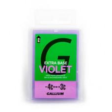 Парафин GALLIUM Extra Base Wax (-4C/+3C)100г Violet