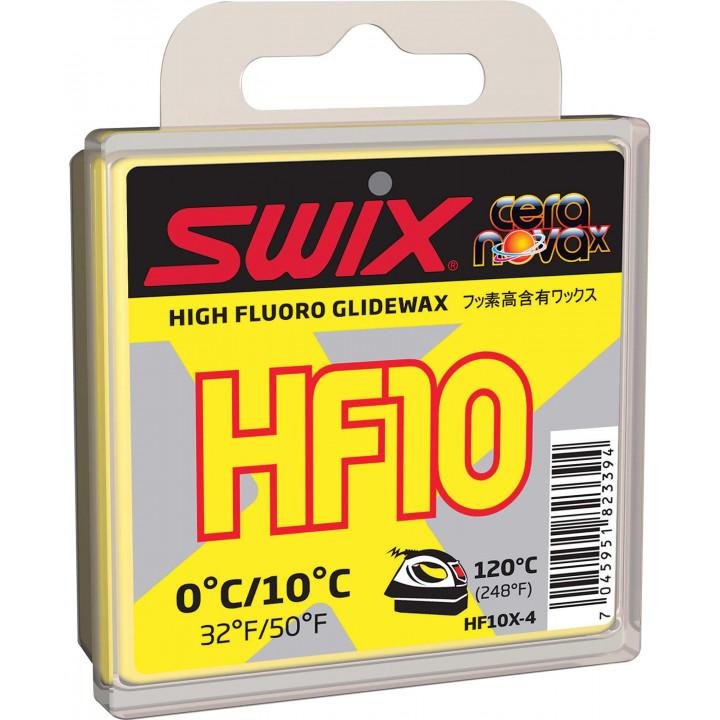 Мазь скольжения SWIX HF10X Yellow 40гр (0С/+10C)