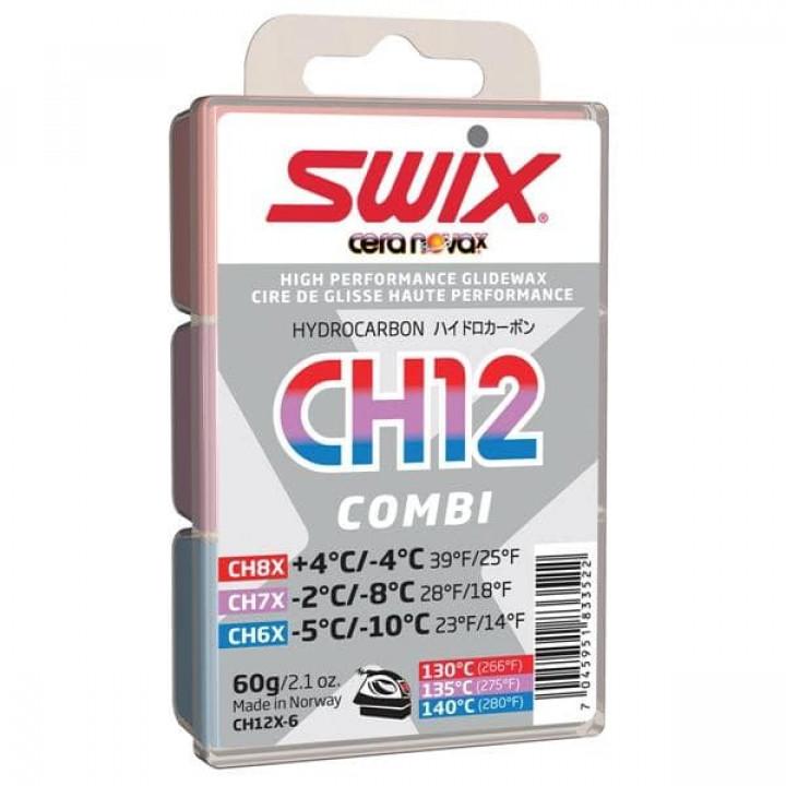 Мазь скольжения SWIX CH12X Combi (CH6+CH7+CH8) 60гр
